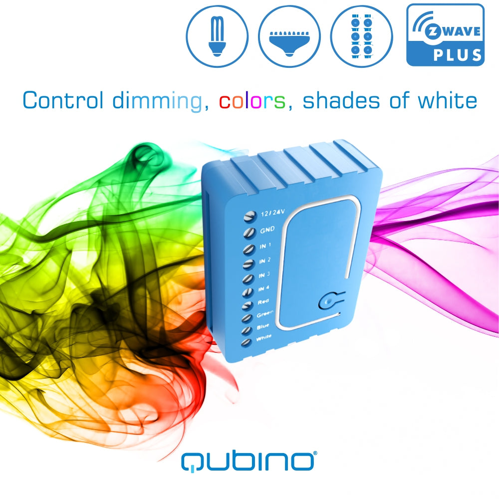 Qubino Z Wave Plus Flush Rgbw Dimmer Module Zmnhwd3 The