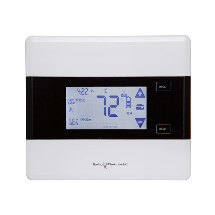 Radio Thermostat Z-Wave Communicating Touch Screen Thermostat CT101, Iris Version Front View