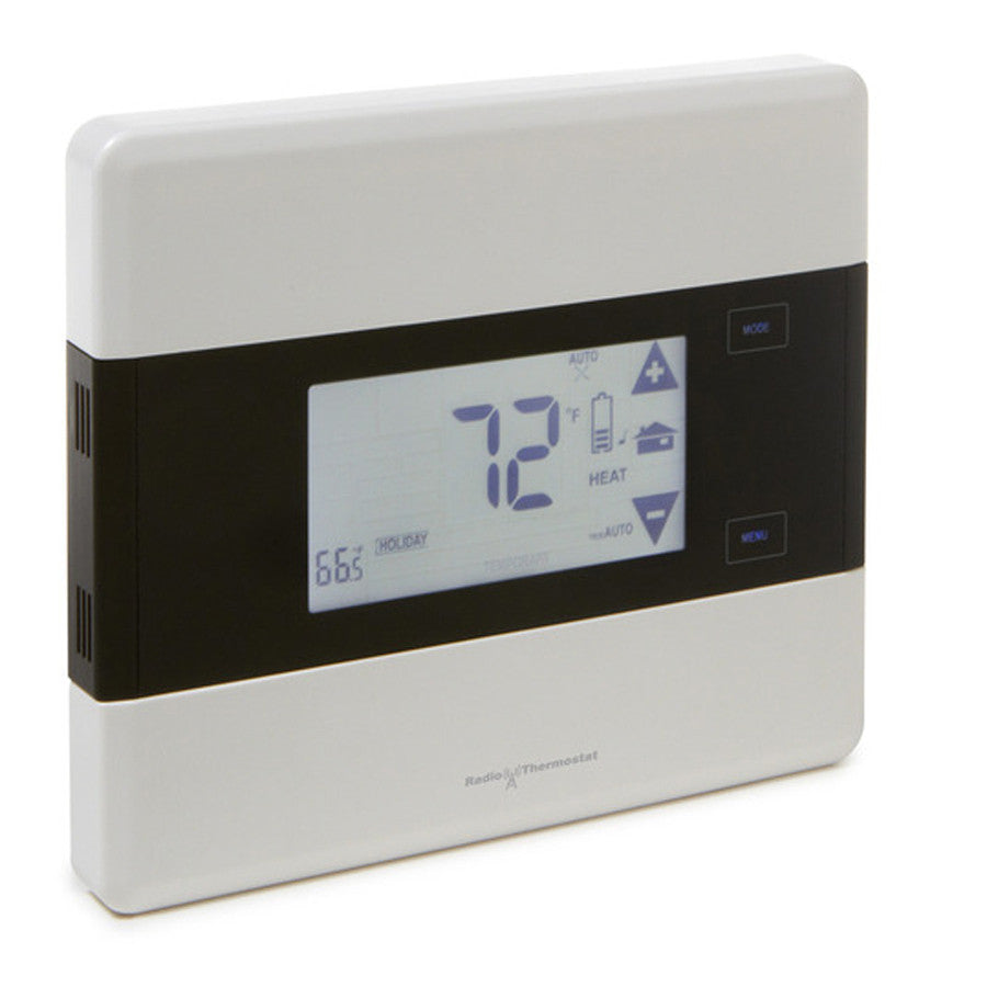 Radio Thermostat Z-Wave Communicating Touch Screen Thermostat CT101, Iris Version Side View