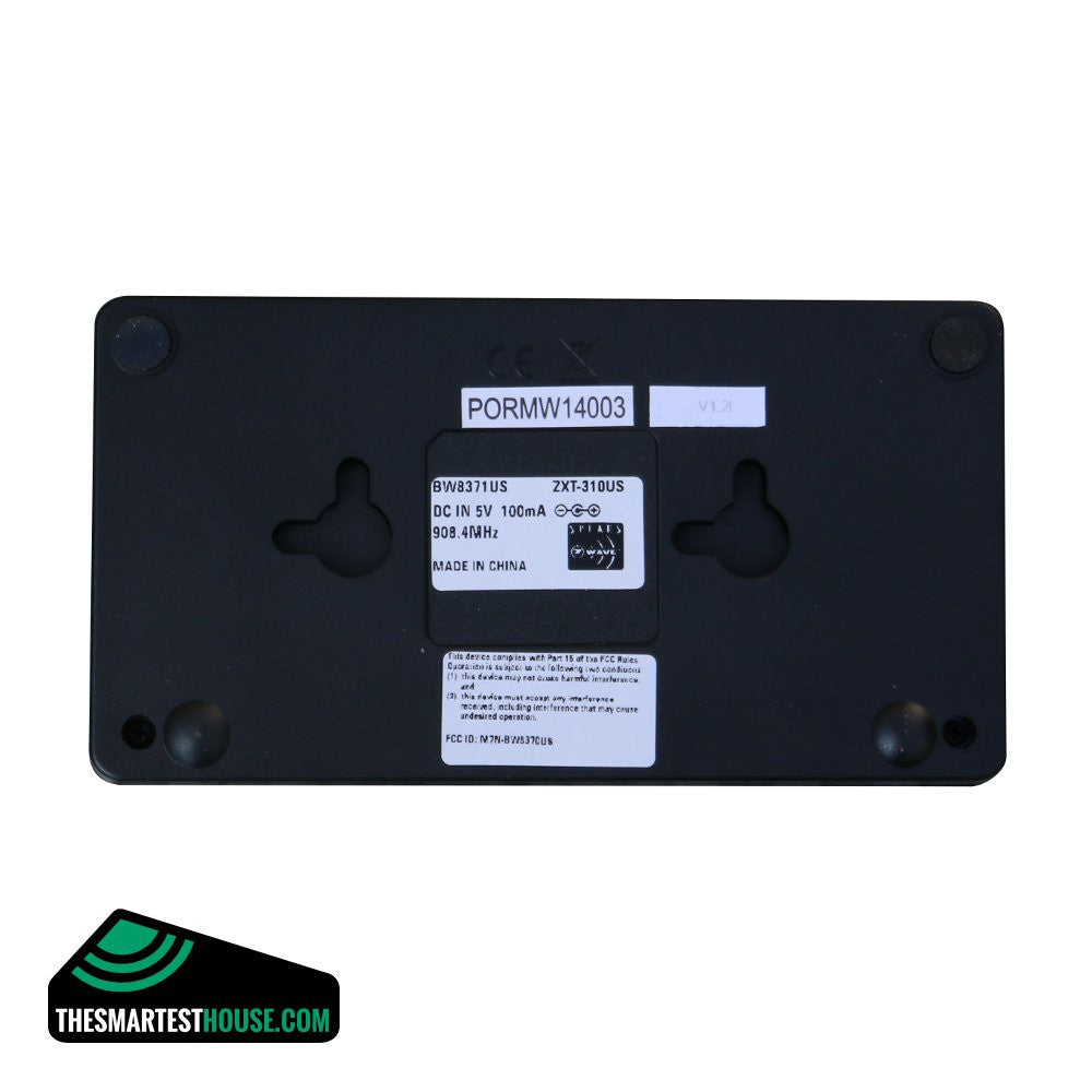 ZXT-310US Z-Wave-to-AV IR Extender Back Labels