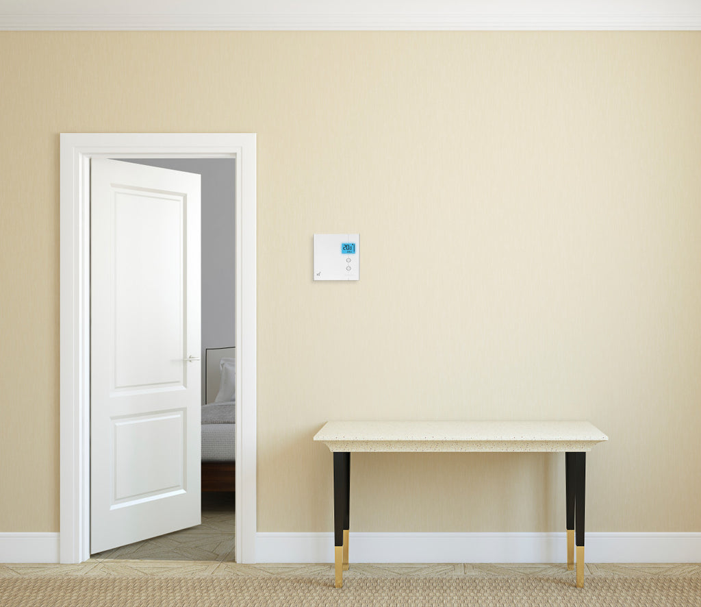 Stelpro KI Z-Wave Plus Thermostat for Electric Baseboards and Convectors STZW402WB+ In Room View