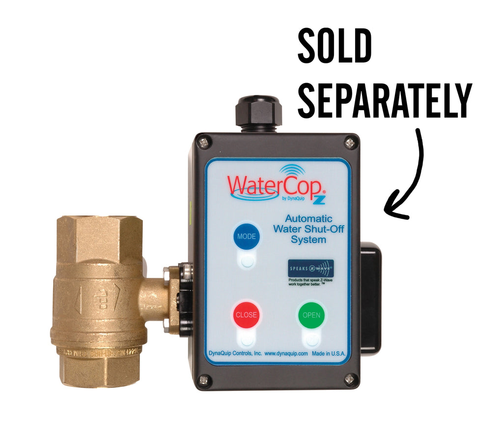 WaterCop Water Shut-Off Valve with a Z-Wave Motor Actuator