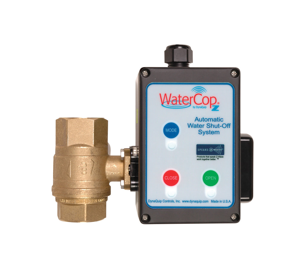 WaterCop Z-Wave Actuator Motor and Shut-Off Valve Leak Prevention Value Kit Front View