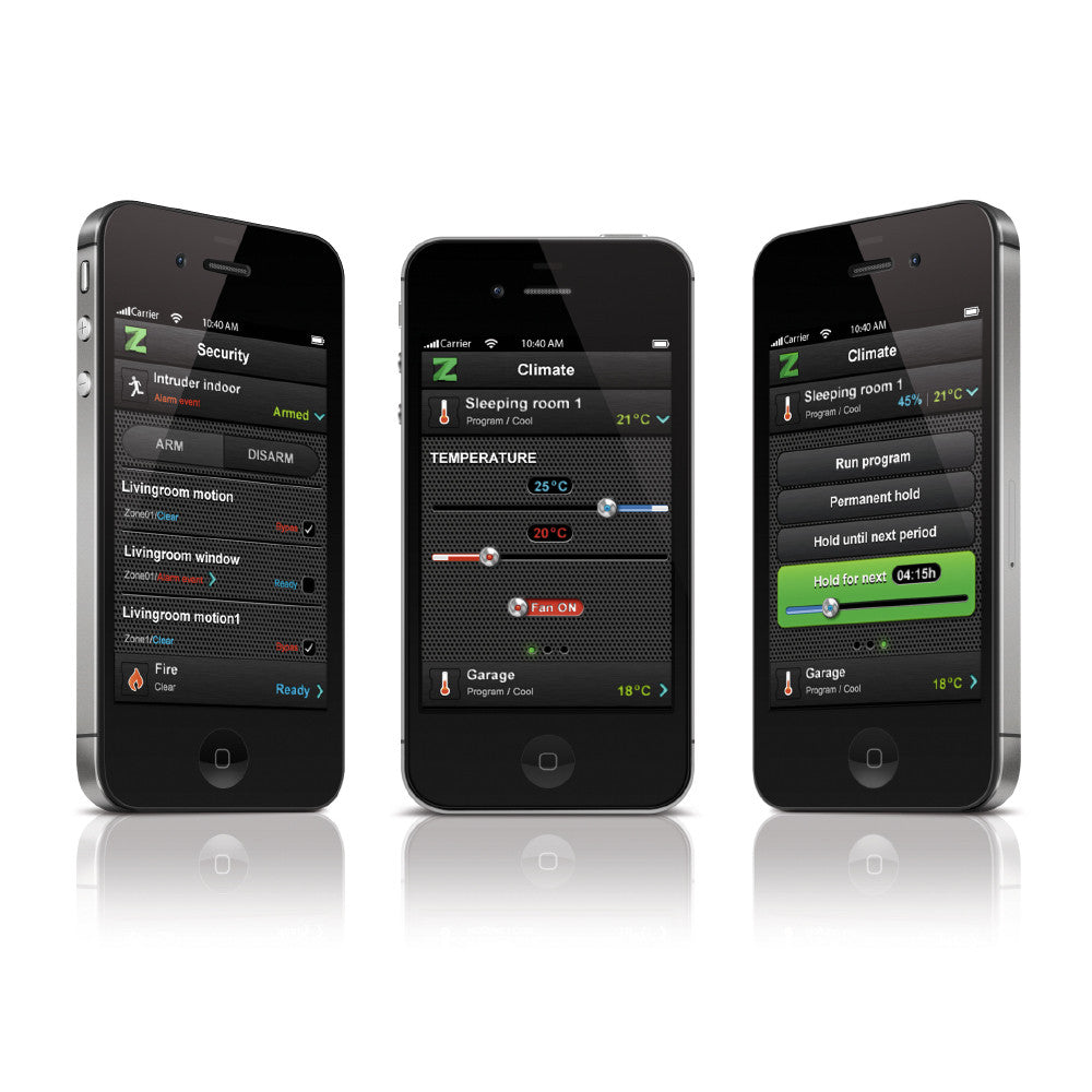Zipato ZipaTile Z-Wave Plus Home Automation Controller ZT.ZWUS iPhone app view