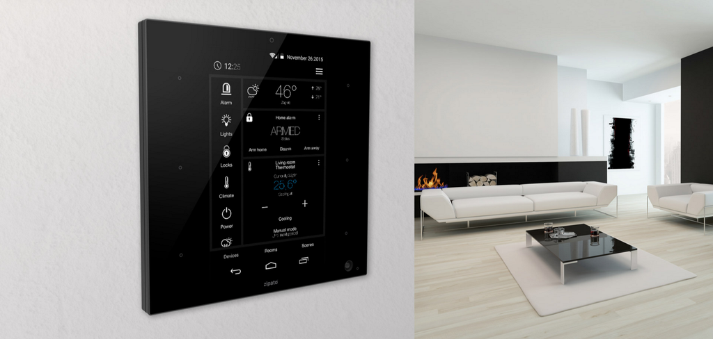 Zipato ZipaTile Z-Wave Plus Home Automation Controller ZT.ZWUS room view