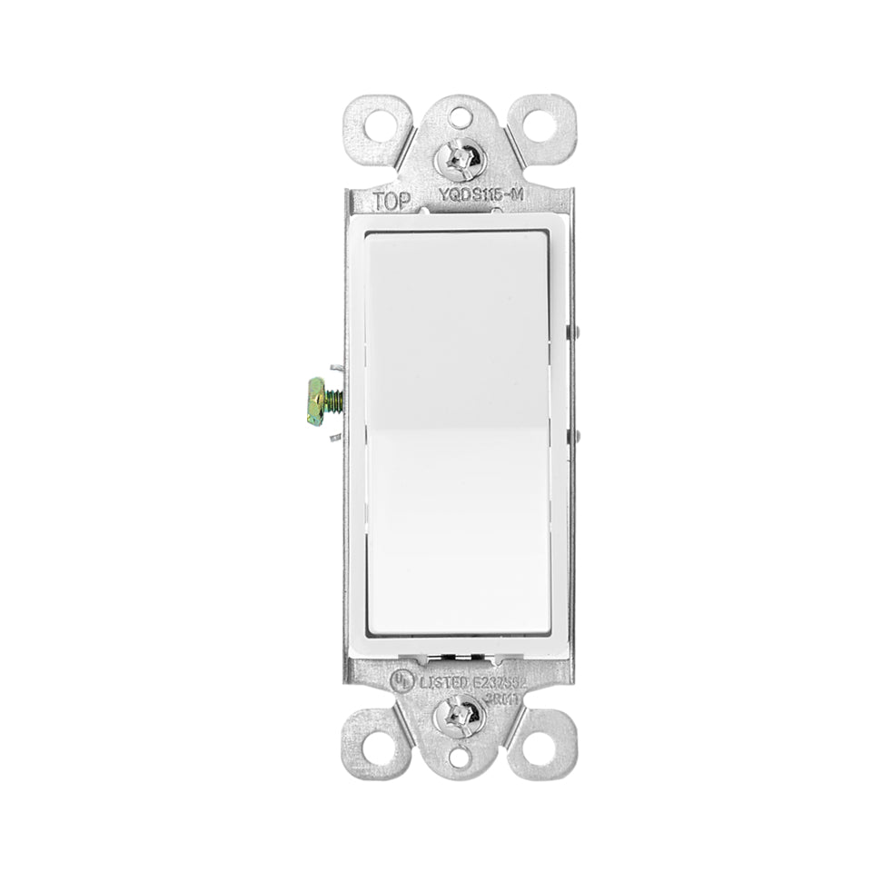 Zooz Momentary In-Wall Switch ZAC99 for Z-Wave Dimmer Modules Front View
