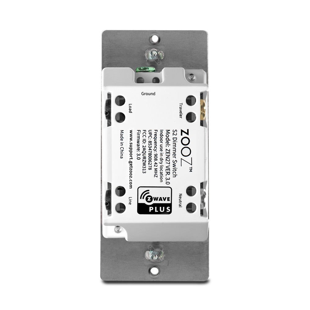 Zooz Z-Wave Plus S2 Dimmer Switch ZEN27 VER. 3.0 (White) with Simple Direct 3-Way & 4-Way