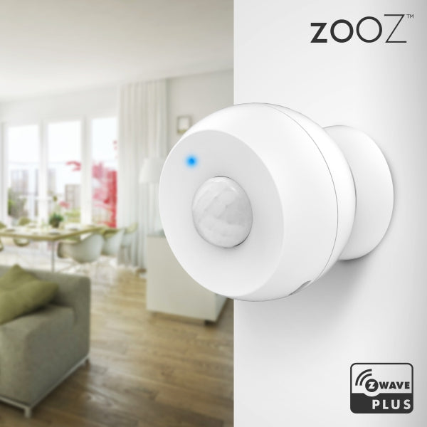 Zooz Z-Wave Plus Motion Sensor ZSE18 Mounted on a Wall