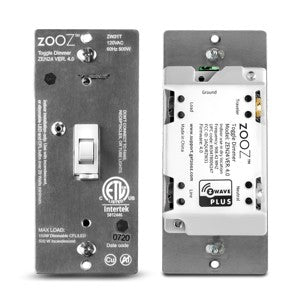 (2) Zooz Z-Wave Plus Dimmer Toggle Switch ZEN24 VER. 4.0 - 2 Pack Deal