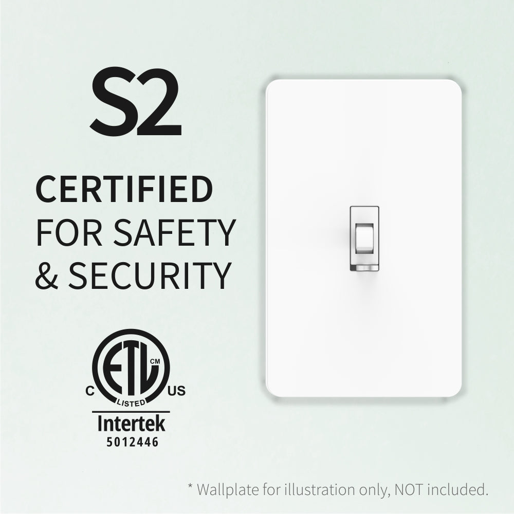 Zooz Z-Wave Plus Dimmer Toggle Switch ZEN24 VER. 4.0 Safety and Security Certificates