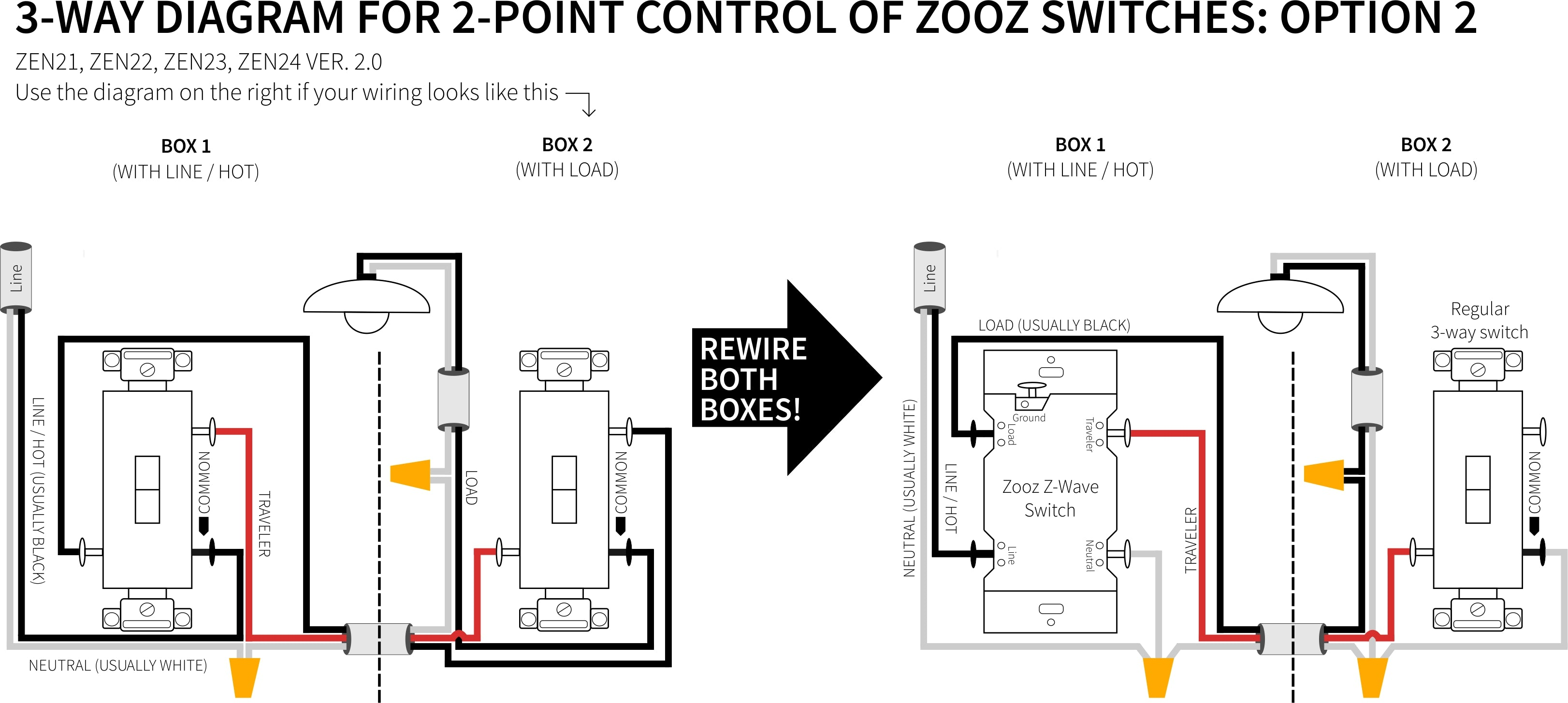 44040 Zooz Z Wave Plus Dimmer Toggle Switch ZEN44040440 VER. 440.40   44040 Pack Deal