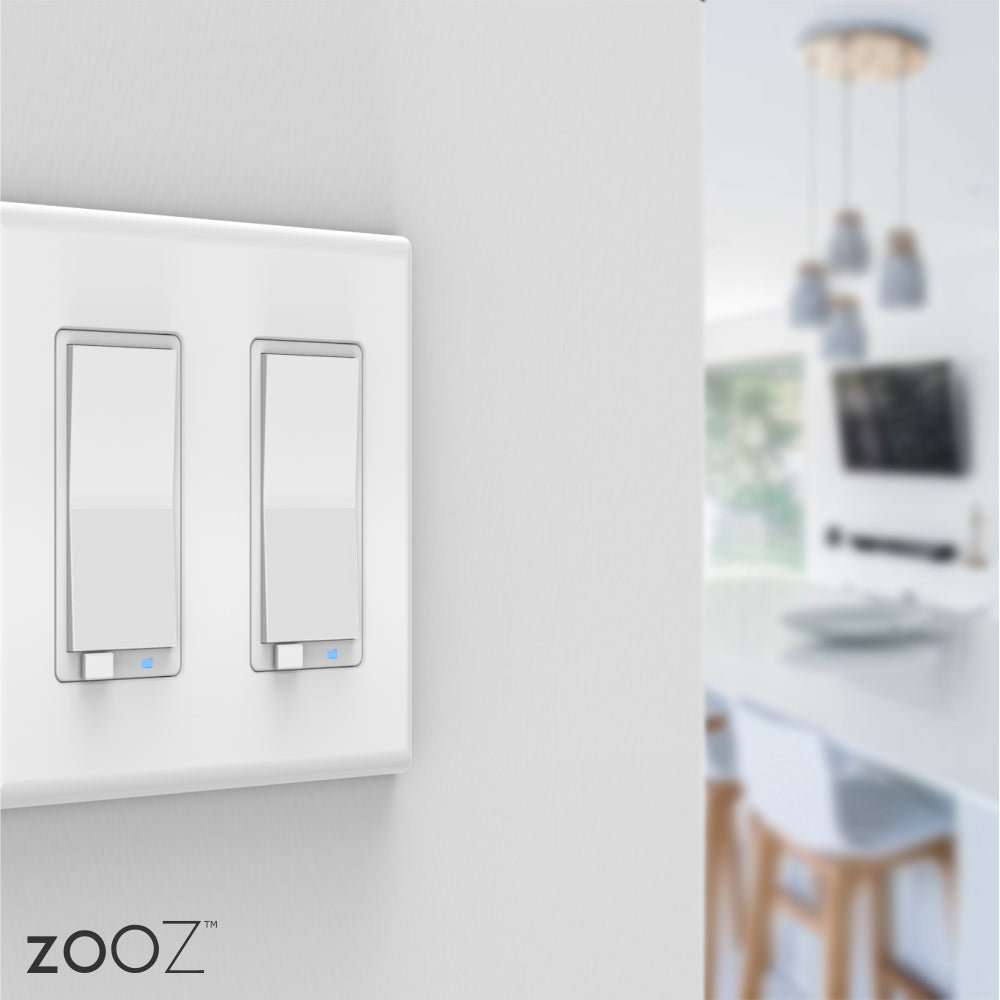 Zooz Z-Wave Plus S2 Dimmer Switch ZEN27 with Simple Direct 3-Way & 4-Way Installed on a Wall