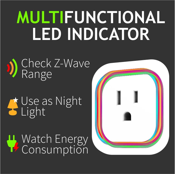 Zooz Z-Wave Plus Smart Plug ZEN06 LED Indicator Features