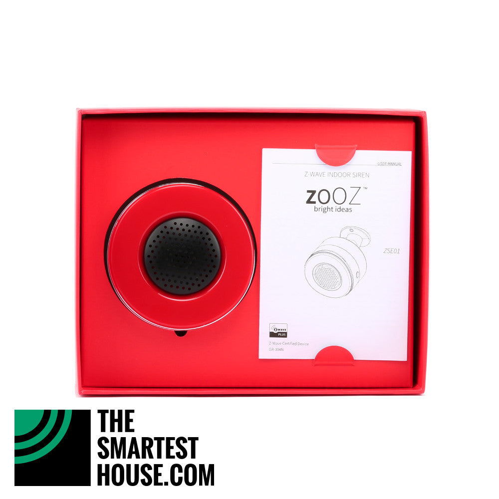 Zooz ZSE01 Z-Wave Indoor Siren Open Box