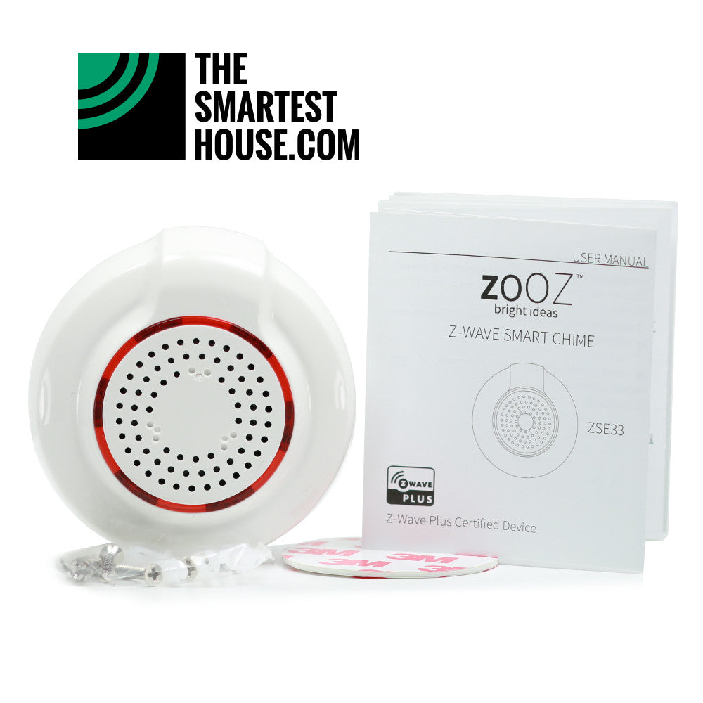 Zooz Z-Wave Plus Smart Chime with Alarm Siren ZSE33 Accessories