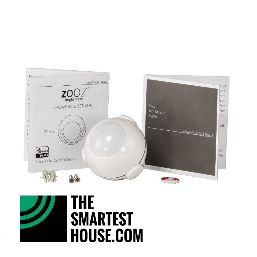 zooz z wave plus motion and light mini sensor zse09 the smartest house. Black Bedroom Furniture Sets. Home Design Ideas