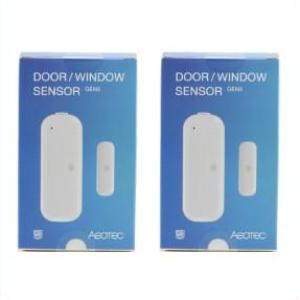Save with Aeotec by Aeon Labs Z-Wave Plus Door Window Sensor Gen5 ZW120 - 2 Pack