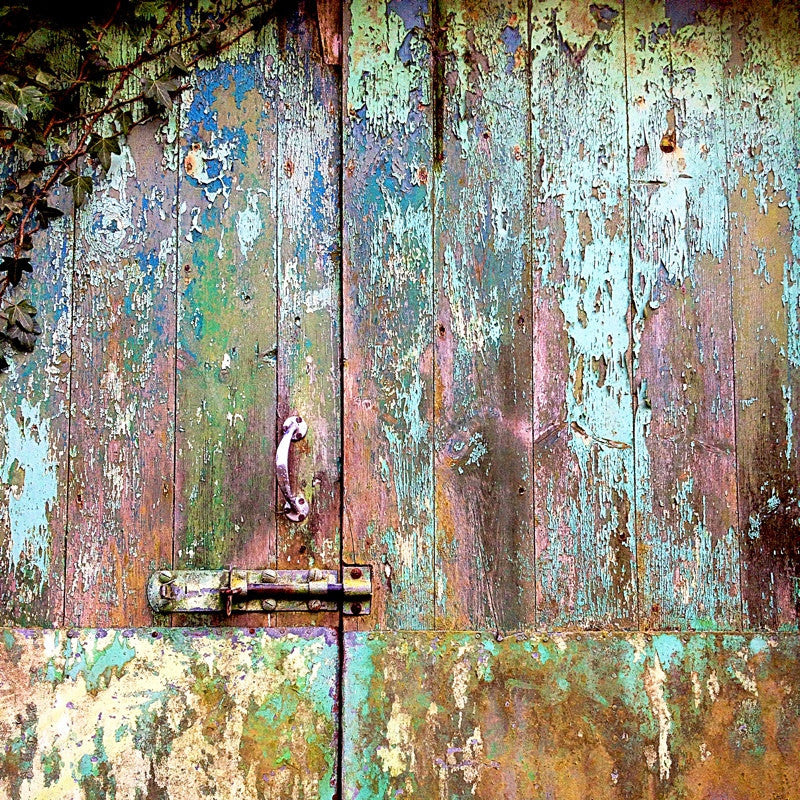 <p>Neglected buildings offer great opportunities for artists. Over the years rain, sun and wind have worn down the fabric of this hayloft door,Êexposing years of repainting colour on colour, to reveal its story.</p>