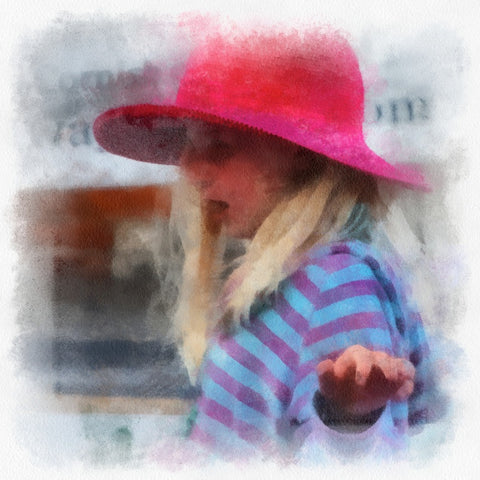 Girl in a Pink Hat