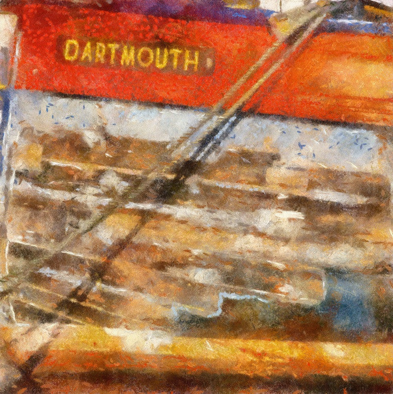 <p>A Dartmouth Hull is familiar on the River Dart with it's patina paint and noticeable trademark of Dartmouth.</p>