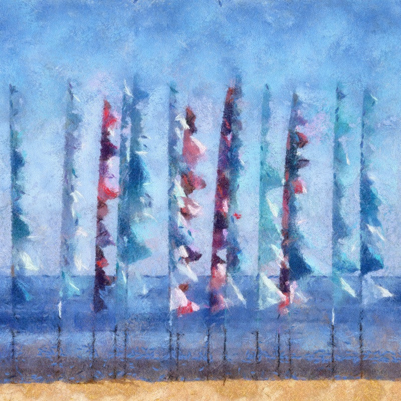 <p>Sometimes life offers a great surprise. On one of my weekly pilgrimages to Blackpool Sands in the South Hams, Devon, I came across these wonderful flags, fluttering in the sunshine against blue sky and sea.</p>