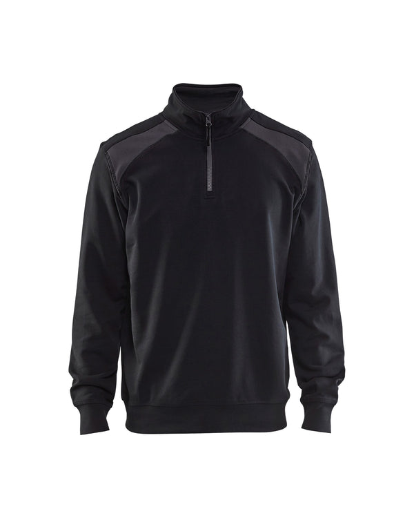 BLAKLADER/SWEAT COL CAMIONNEUR BICOLORE