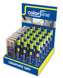 ASSORTIMENT DE PORTE-MINE ET MINES DE RECHARGEABLE EN DISPLAY: 24X + CRAYON GRAPHITE DRY: 10 x MINES GRAPHITES
