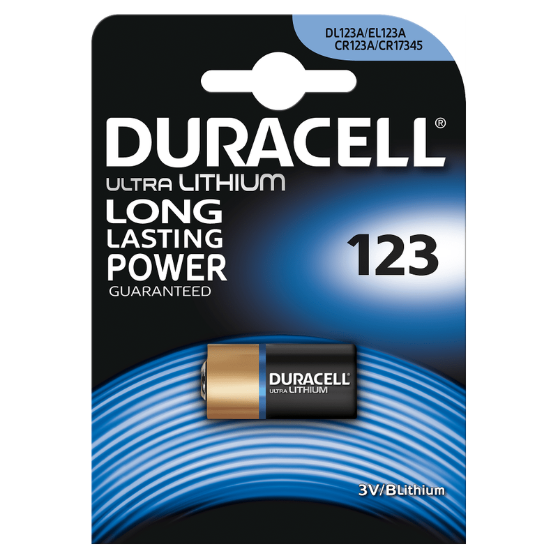 PILE BOUTON DURACELL 3V DL 123A