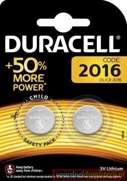 PILE BOUTON DURACELL DL 3V B1 2016 2PC