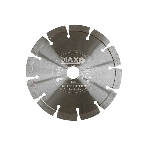 DISQUE DIAMANTE LASER BETON - 140 X 22,2 MM - PRO CONSTRUCTION