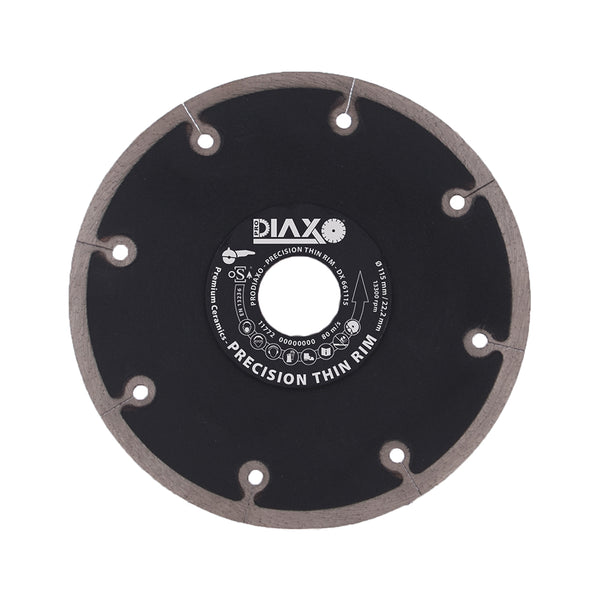 DISQUE DIAMANTE PRECISION THIN RIM - 125 x 22,2 MM - PREMIUM CERAMICS