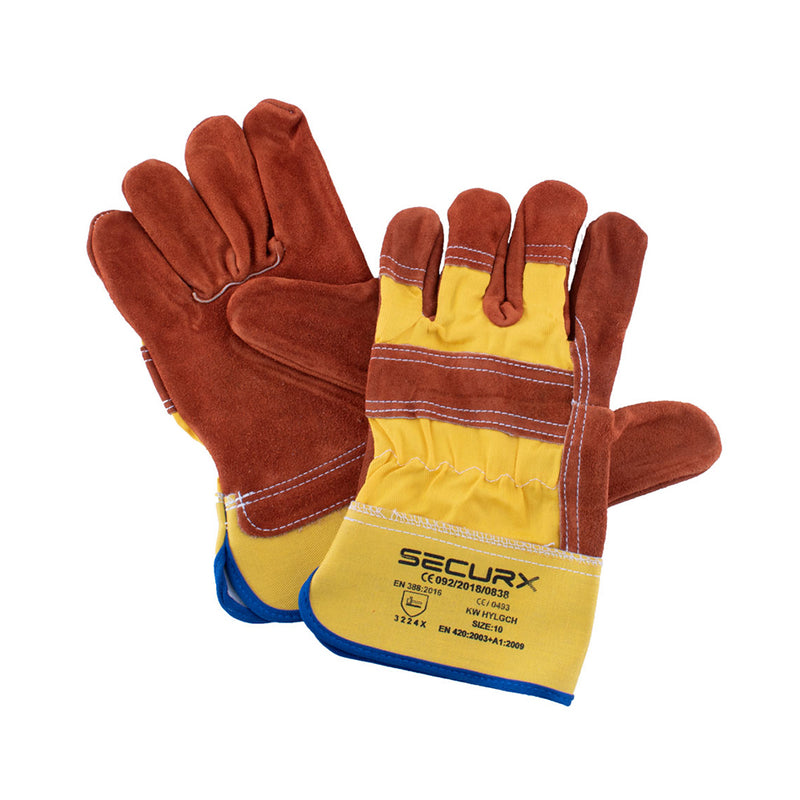 GANTS DE SECURITE CUIR WORKER / 10