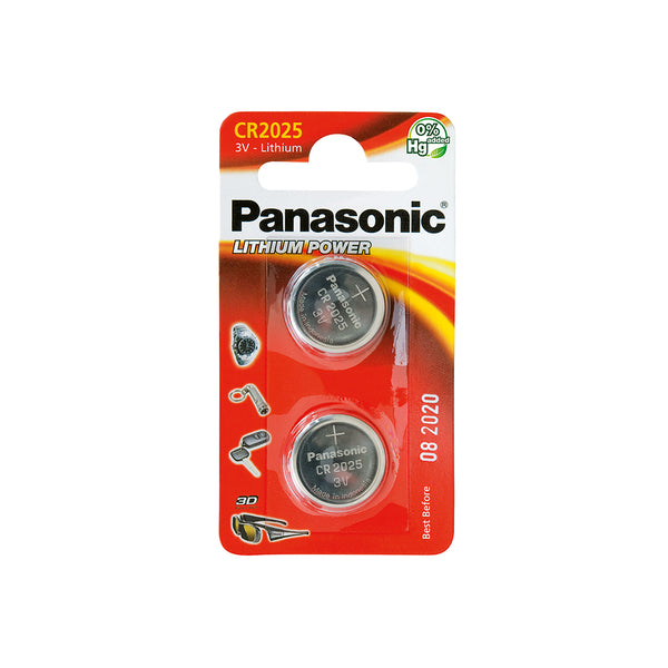 "PILE PANASONIC ""LITHIUM POWER"" PILE BOUTON - TYPE CR-2025"