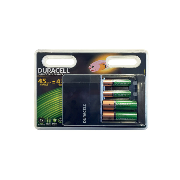 CHARGEUR DURACELL SUPER RAPIDE 45 MINUTE  + 2 AA + 2 AAA (EX PS 045000)