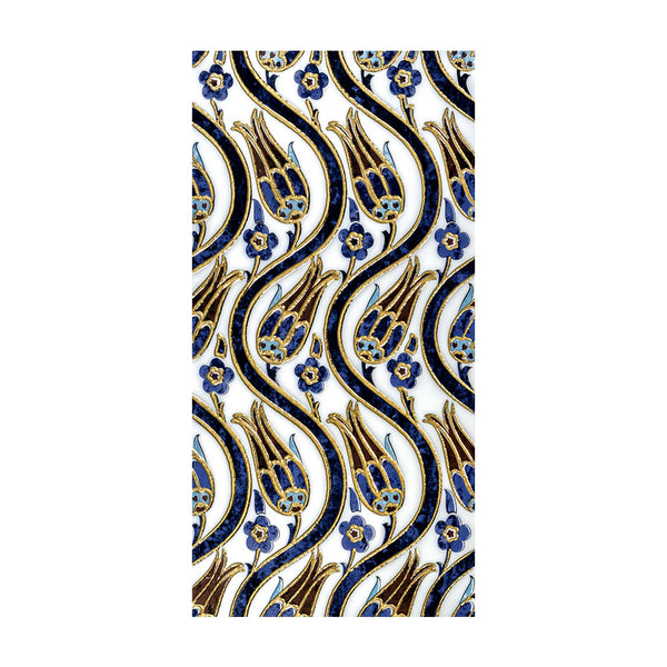 MCM DECORD TULIPS BLUE GOLD 30 X 60 1 PCS
