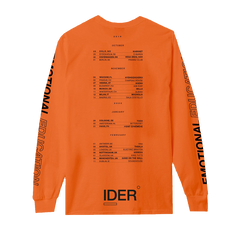 IDER EU & UK TOUR 2019-2020 ORANGE LONGSLEEVE