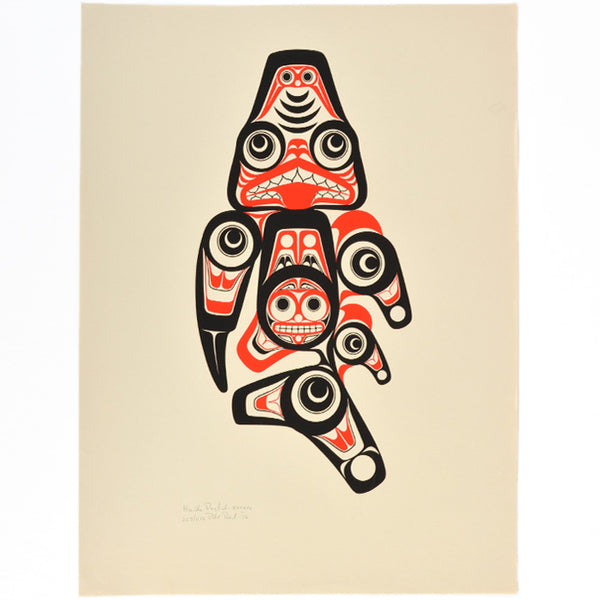 Haida Dogfish Print by Bill Reid