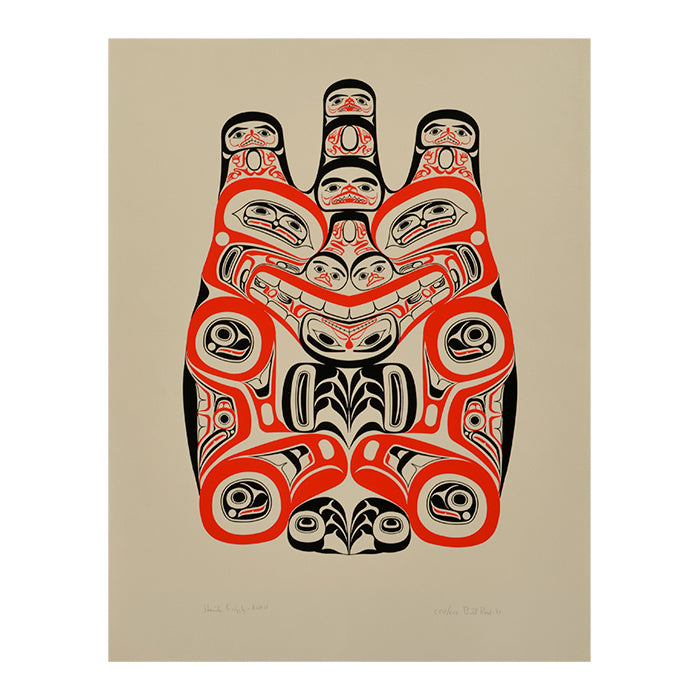 Haida Grizzly Print by Bill Reid