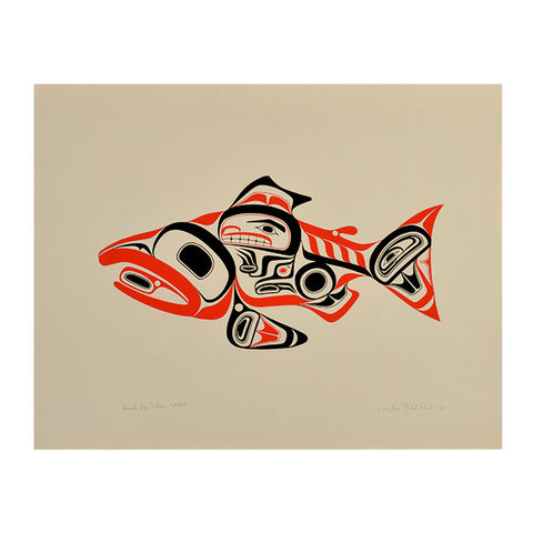 Skaagi Haida Salmon Print by Bill Reid