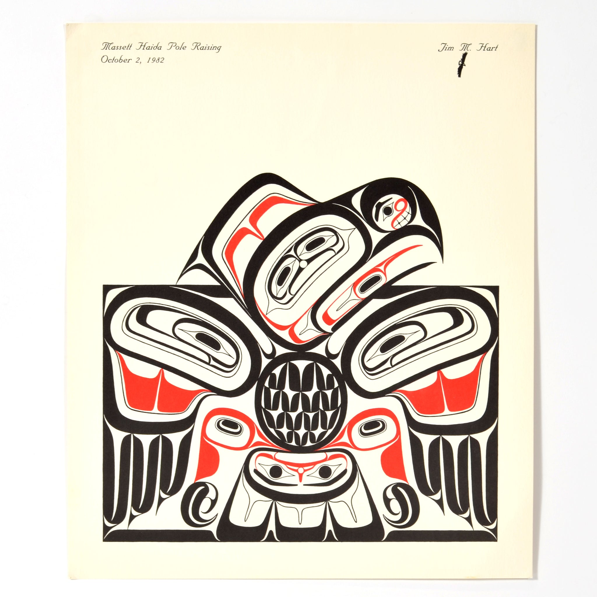 Massett Haida Pole Raising by Jim Hart