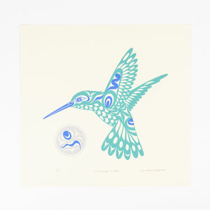Hummingbird and Moon by Joe Wilson