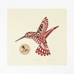 Hummingbird and Sun by Joe Wilson
