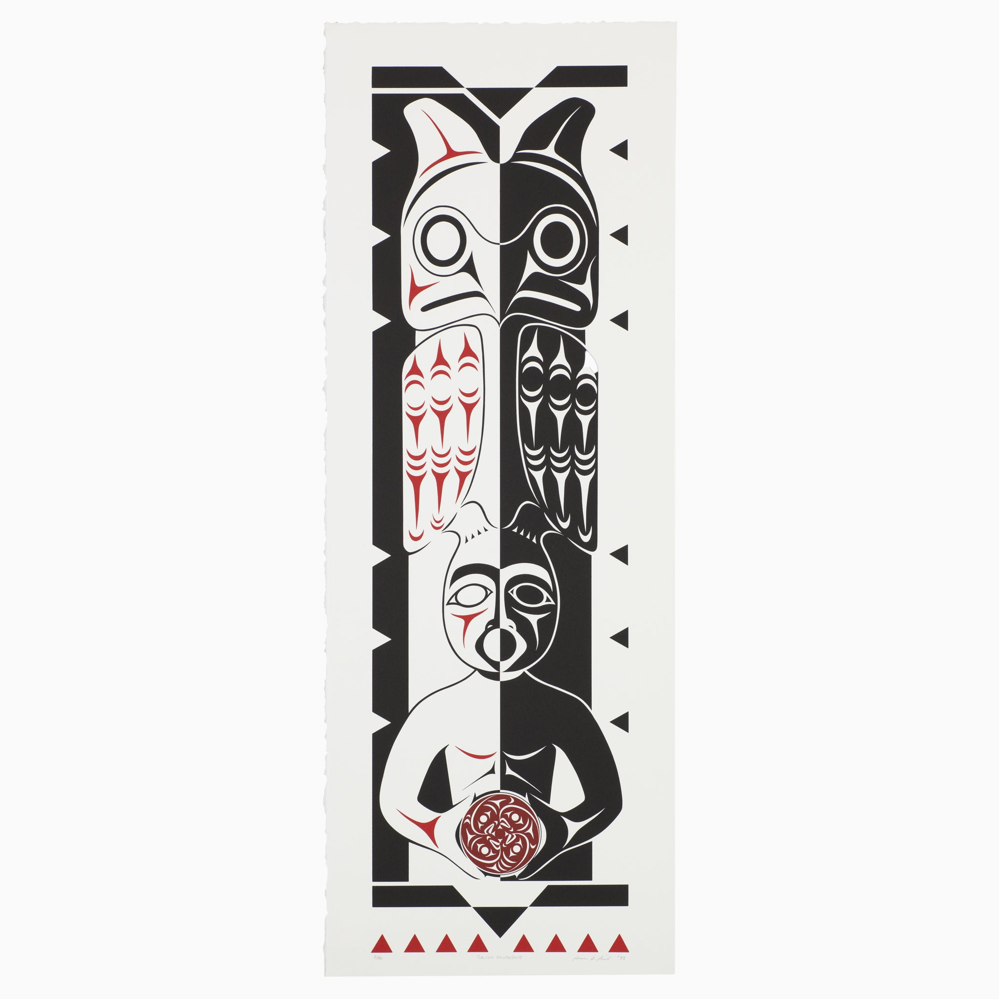 Salish Housepost by Susan Point