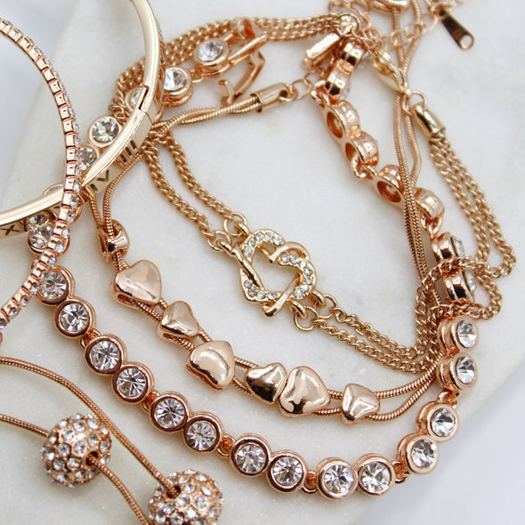 Rose Gold Everything Bracelet Set