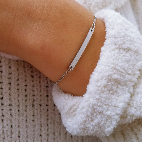 Thin Bar Custom Bracelet
