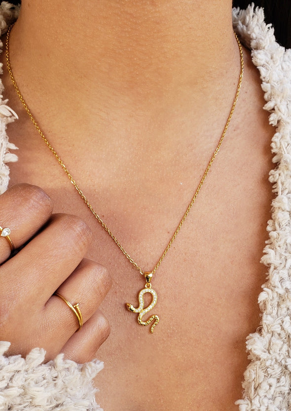 Golden Snake Necklace Set