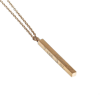 4 Sided Bar Necklace