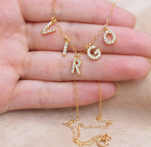 Custom Diamond Letter Necklace