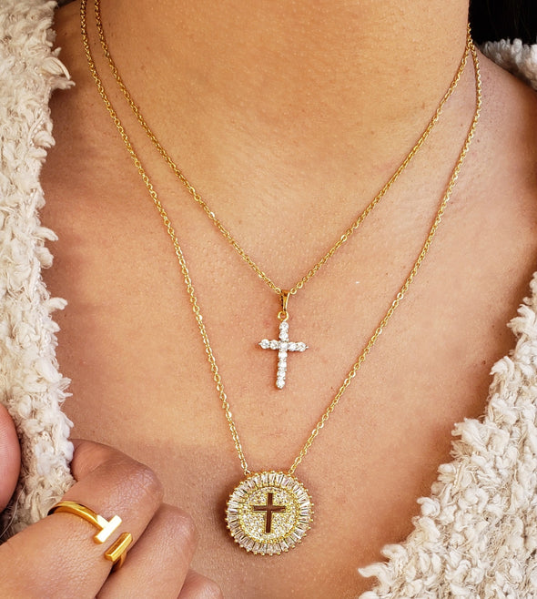 Duo Cross Necklace Set