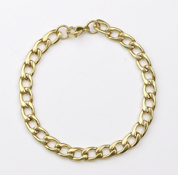 Men's Gold Curb Bracelet
